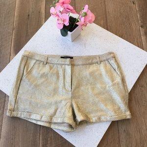 NWT Forever 21 gold sparkle new years short size L